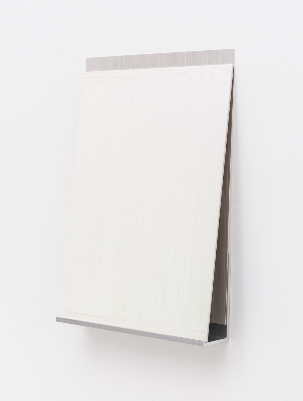 Imi Knoebel  An Meine Grüne Seite C 13-1  2012 Acrylic on aluminum, acrylic on plastic film, aluminum shelf 7 ⅚h x 7 ¹⁄₁₂w x 1 ½d in IK006