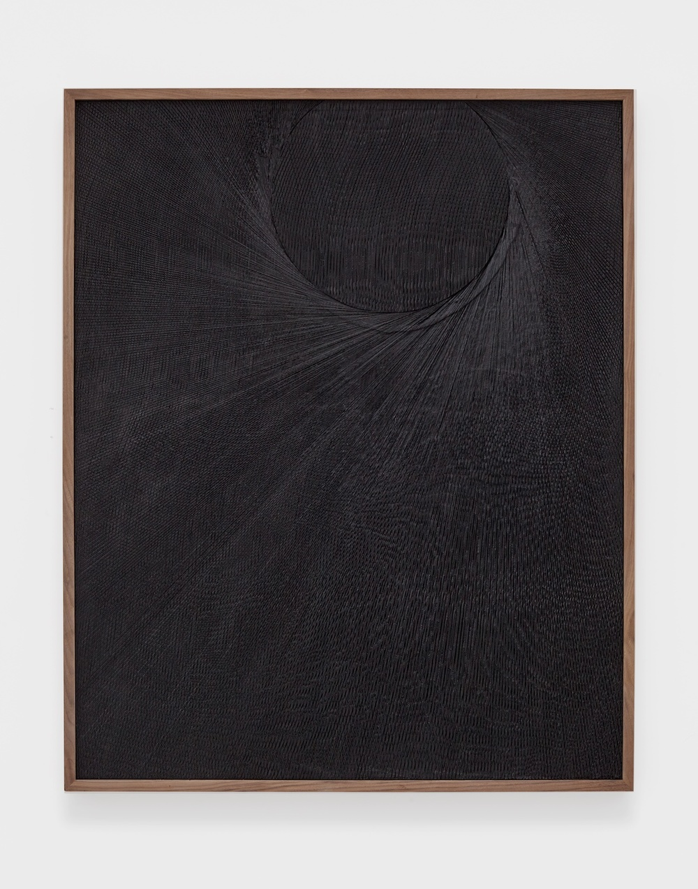 "Anthony Pearson Untitled (Etched Plaster) 2015 Medium coated pigmented hydrocal in walnut frame 49"" x 40"" x 2 ½"" AP368"