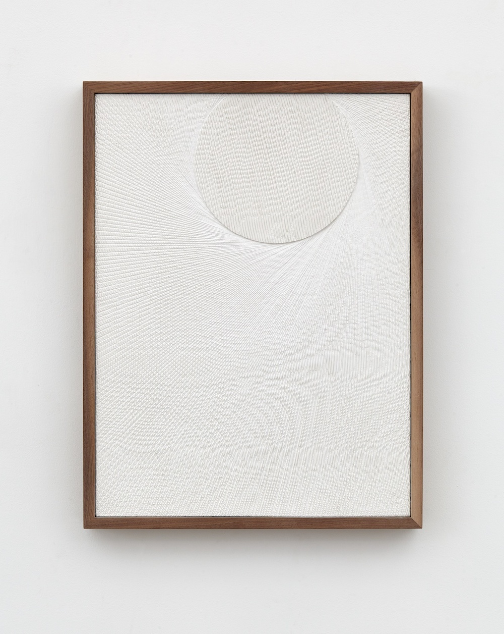 Anthony Pearson  Untitled (Etched Plaster)  2015 Hydrocal in walnut frame 24 ½h x 18 ½w x 2d in AP369