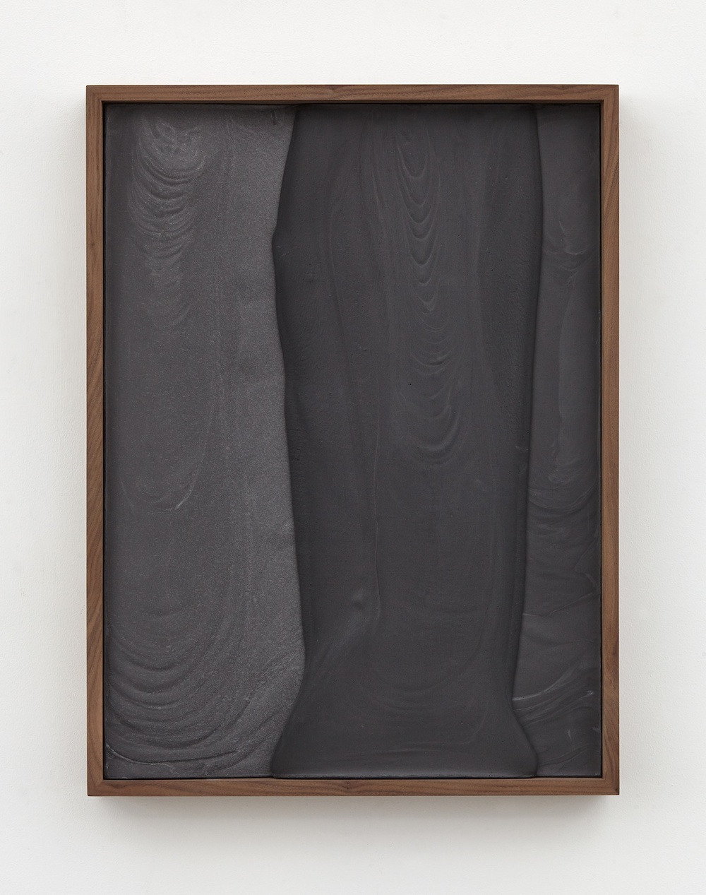 "Anthony Pearson Untitled (Plaster Positive) 2015 Pigmented hydrocal in walnut frame 28 ½"" x 21 ½"" x 3"" AP371"