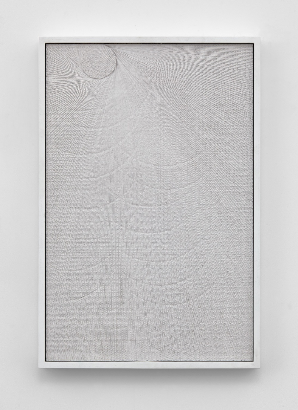 "Anthony Pearson Untitled (Etched Plaster) 2015 Pigmented hydrocal in lacquer painted walnut frame 30 ½"" x 20 ½"" x 2 ¼"" AP370"