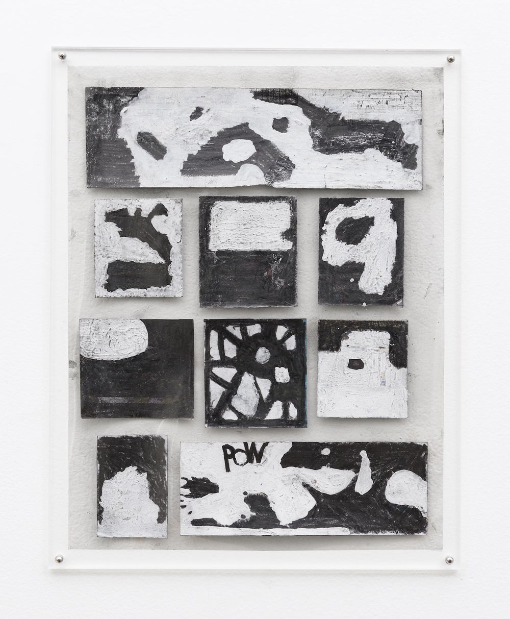 "Tony Lewis They're Not Supposed To Like It! 2014 Pencil and graphite powder on paper and transparency 11"" x 8 ½"" TL245"
