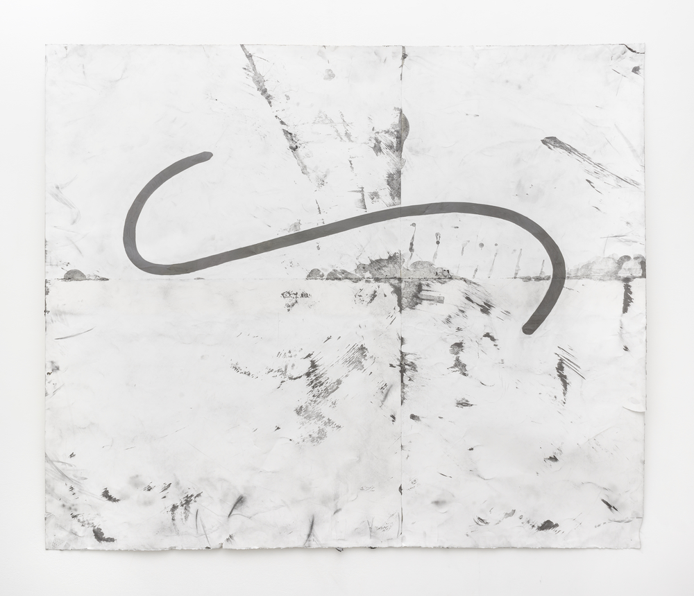 "Tony Lewis Progression 2014 Pencil, graphite powder, and tape on paper 71 ½"" x 83 ¾"" TL246"