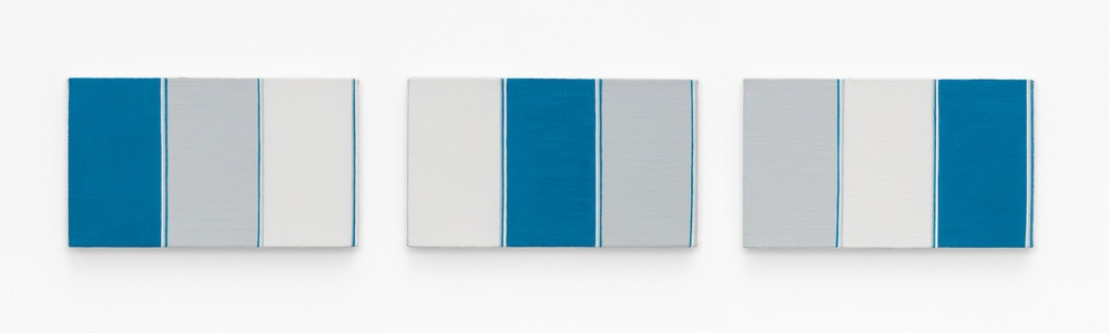 Yui Yaegashi  WHITE / GRAY / BLUE  2014 Oil on canvas Each 6 ⅓h x 10 ⅘w in YY026