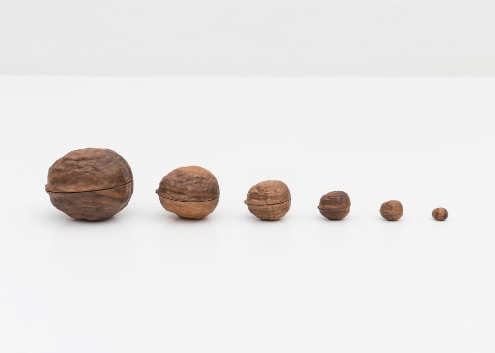 Matt Johnson  Matruschka (Universe in a Nut Shell) (Infinite Nut)  2008 Carved walnut wood Dimensions variable MJohn001