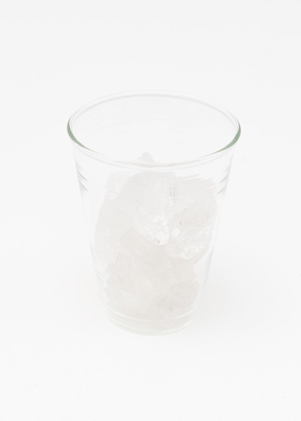 Matt Johnson  Cup of Ice  2015 Glass, quartz 5 ⅛h x 4w x 4d in MJohn003