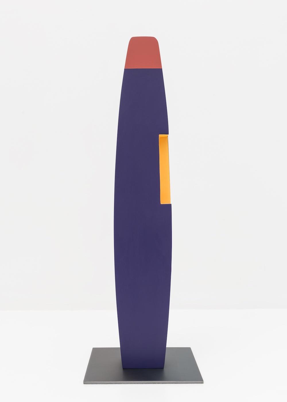 Lisa Williamson  Untitled  2015 Acrylic on wood, steel base 23 ½h x 8w x 8d in LW149