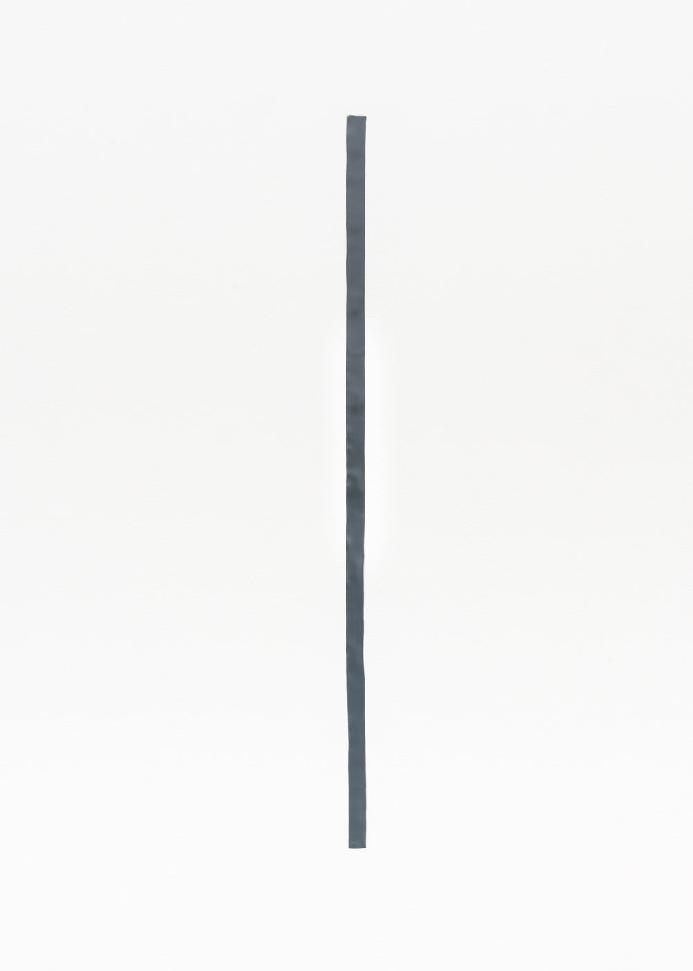 "Nancy Brooks Brody 43 inch Measure 2014 Oil enamel on lead embedded into wall 43"" x 1"" NBB001"