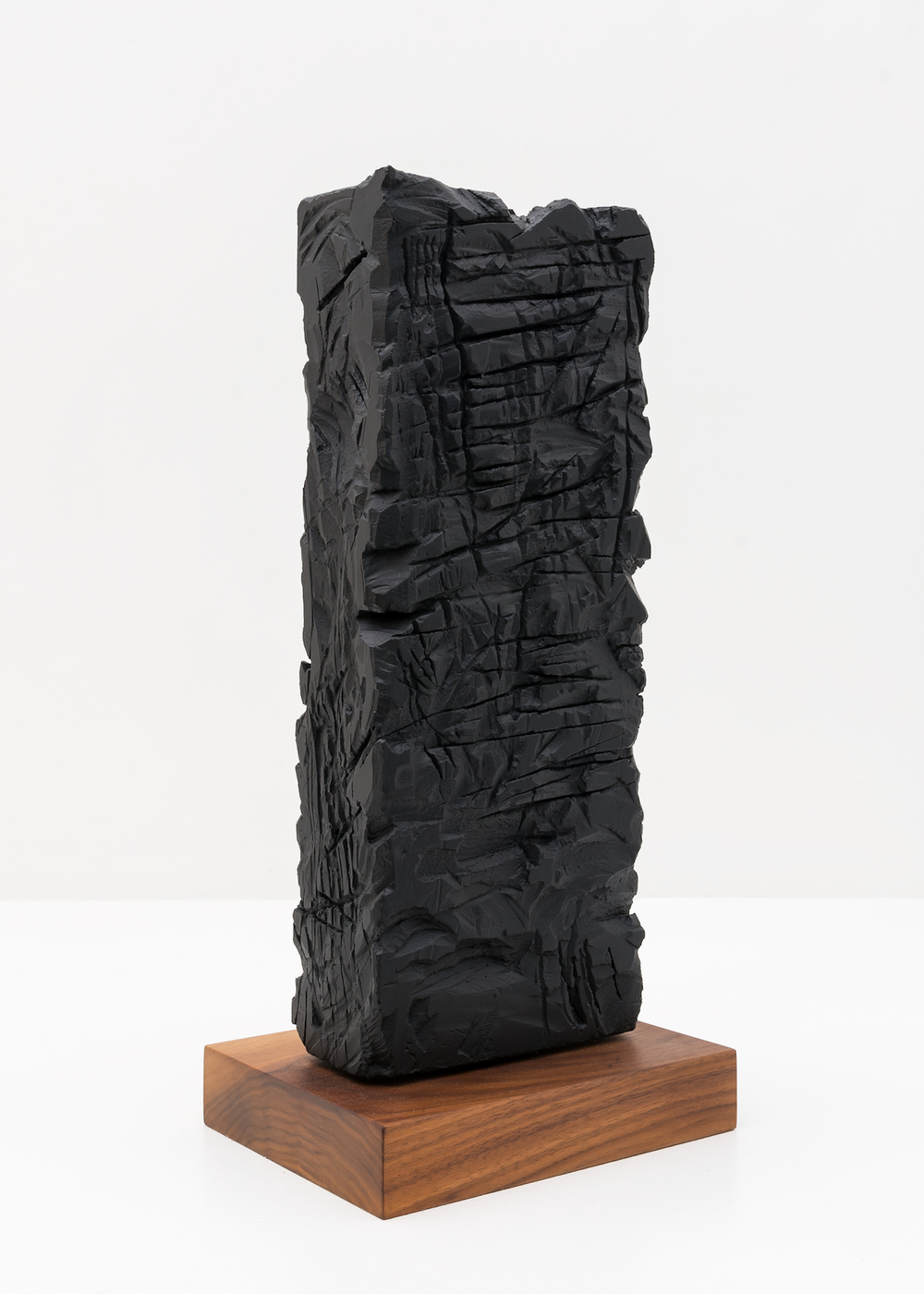 "Anthony Pearson   Untitled (Freestanding Sculpture)   2015   Medium coated pigmented white art plaster with oiled walnut base   18"" x 7"" x 3 1/2""   AP372"