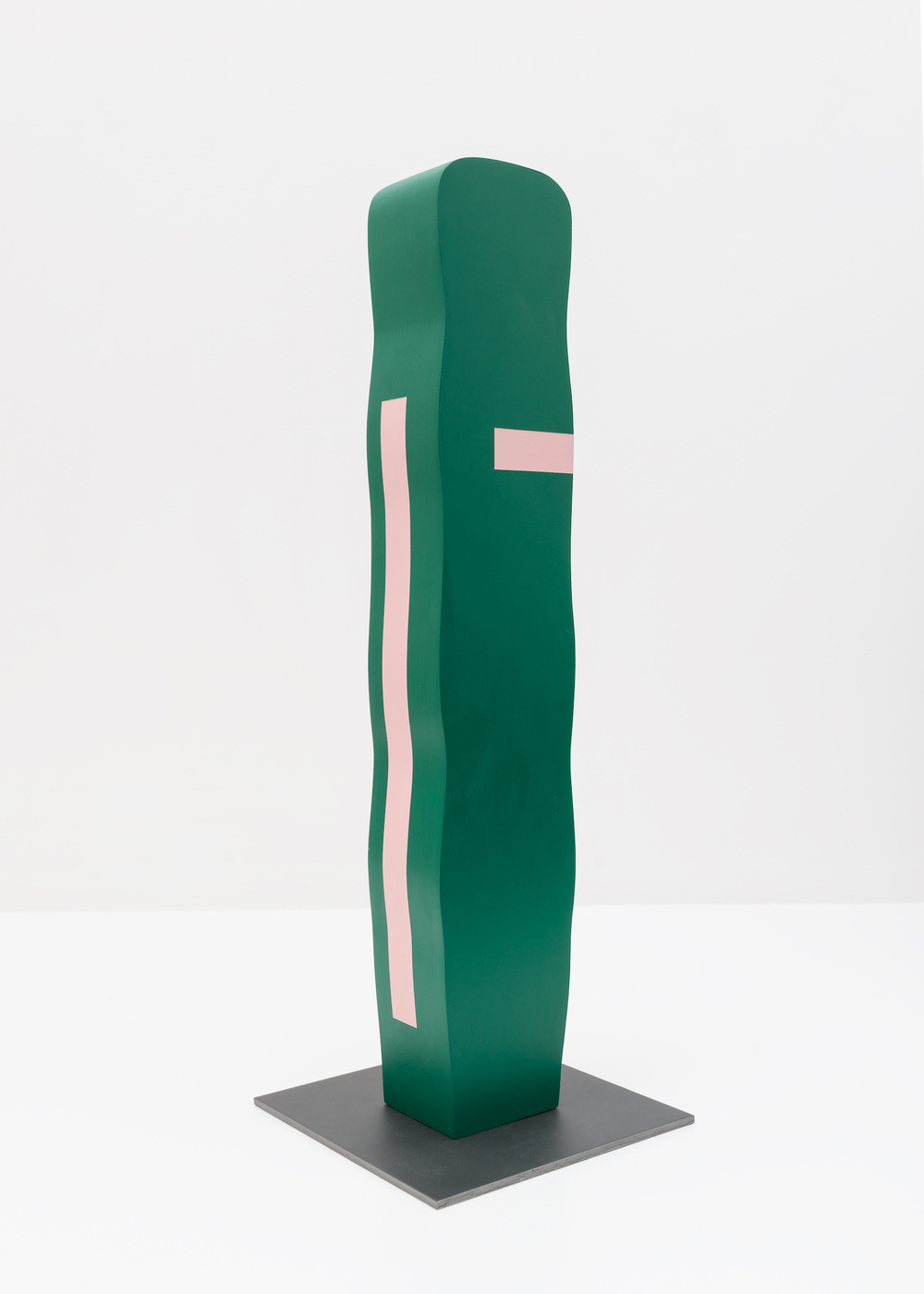 "Lisa Williamson Untitled 2015 Acrylic on wood, steel base 23 1/2"" x 8"" x 8"" LW148"