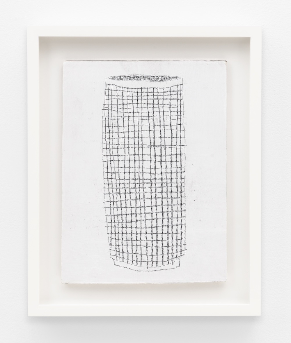 Jonas Wood  SK Pot 2  2012 Gesso and colored pencil on cardboard 9 ¾h x 7 ¼w in JW194