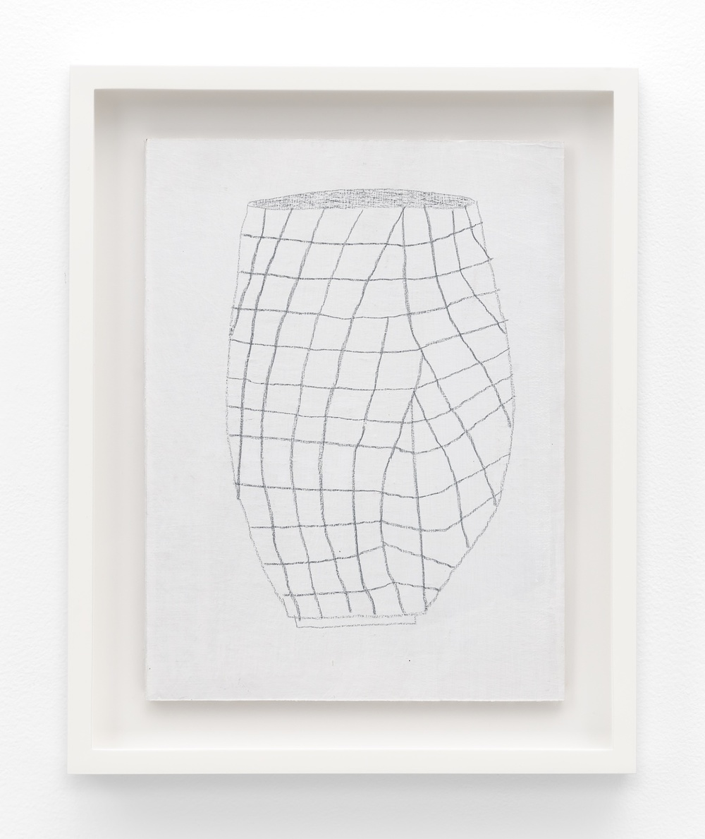 "Jonas Wood SK Pot 5 2012 Gesso and colored pencil on cardboard 11 ½"" x 8 ⅝"" JW197"