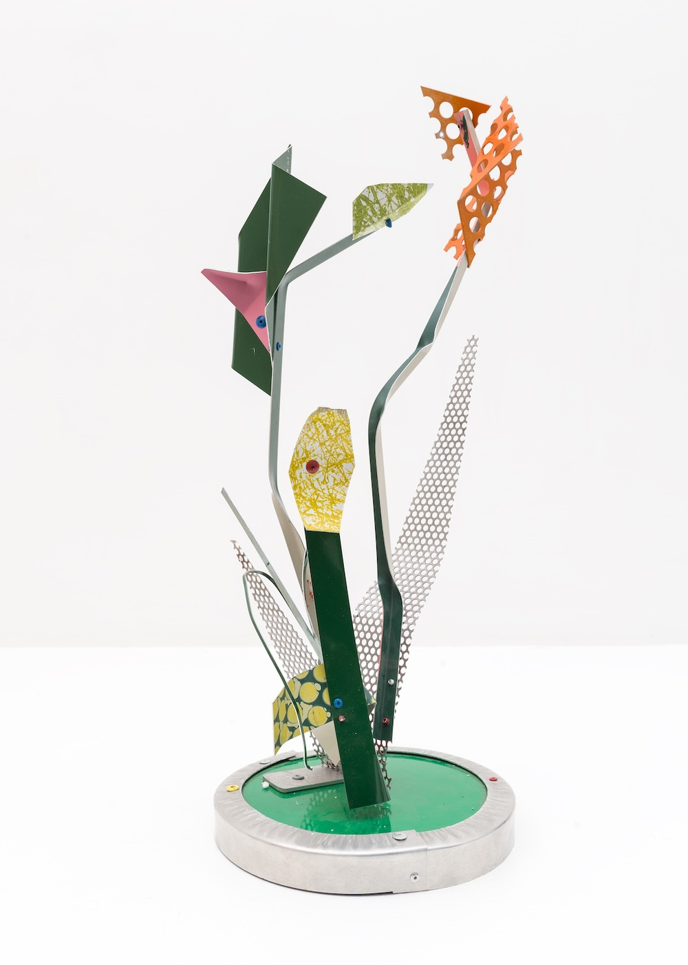 Jason Meadows  Wildflower  2015 Painted aluminum 22 ¾h x 9w x 8 ¾d in  JM020