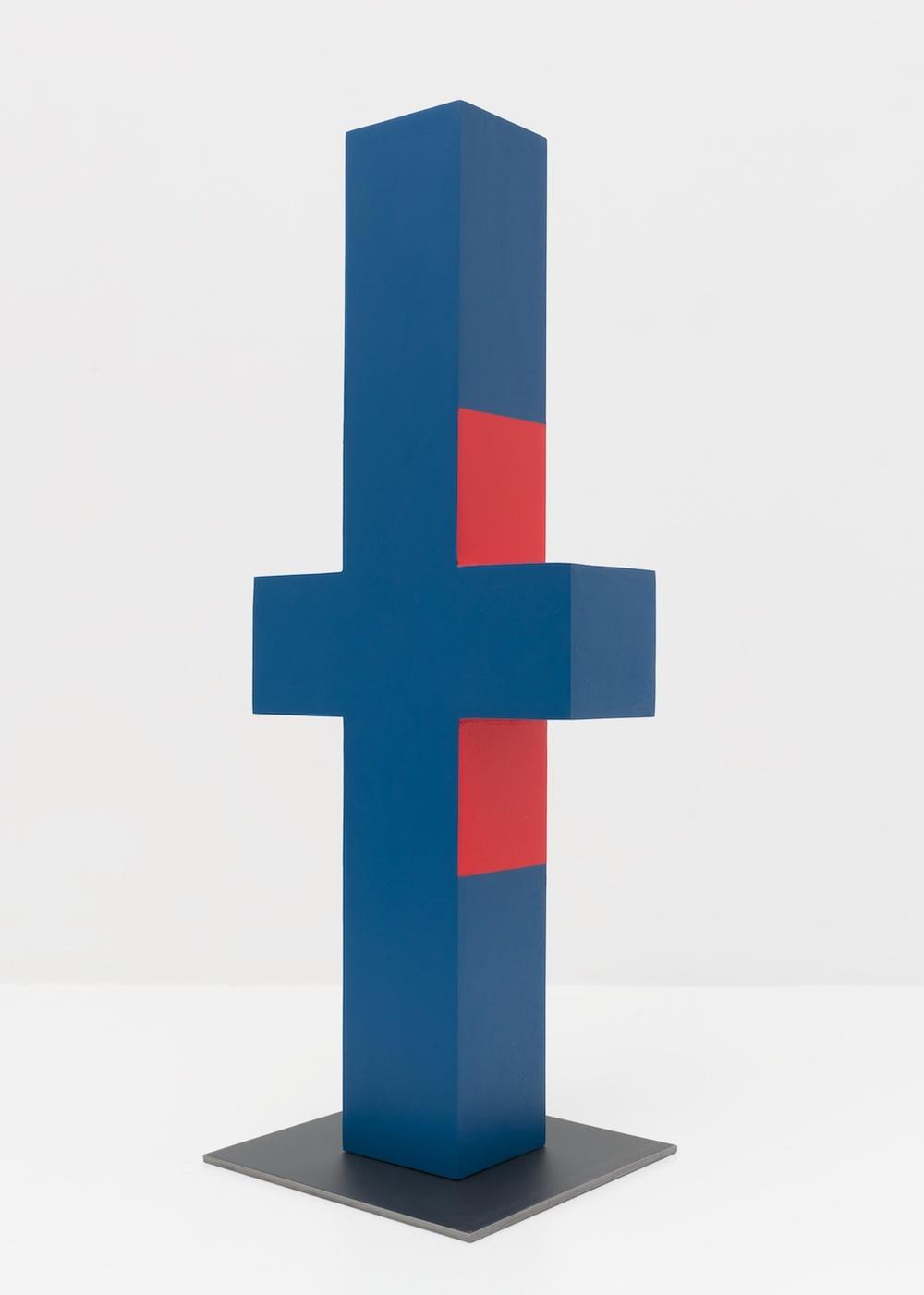 Lisa Williamson  Untitled  2015 Acrylic on wood, steel base 23 ½h x 9 ½w x 3 ½d in LW147