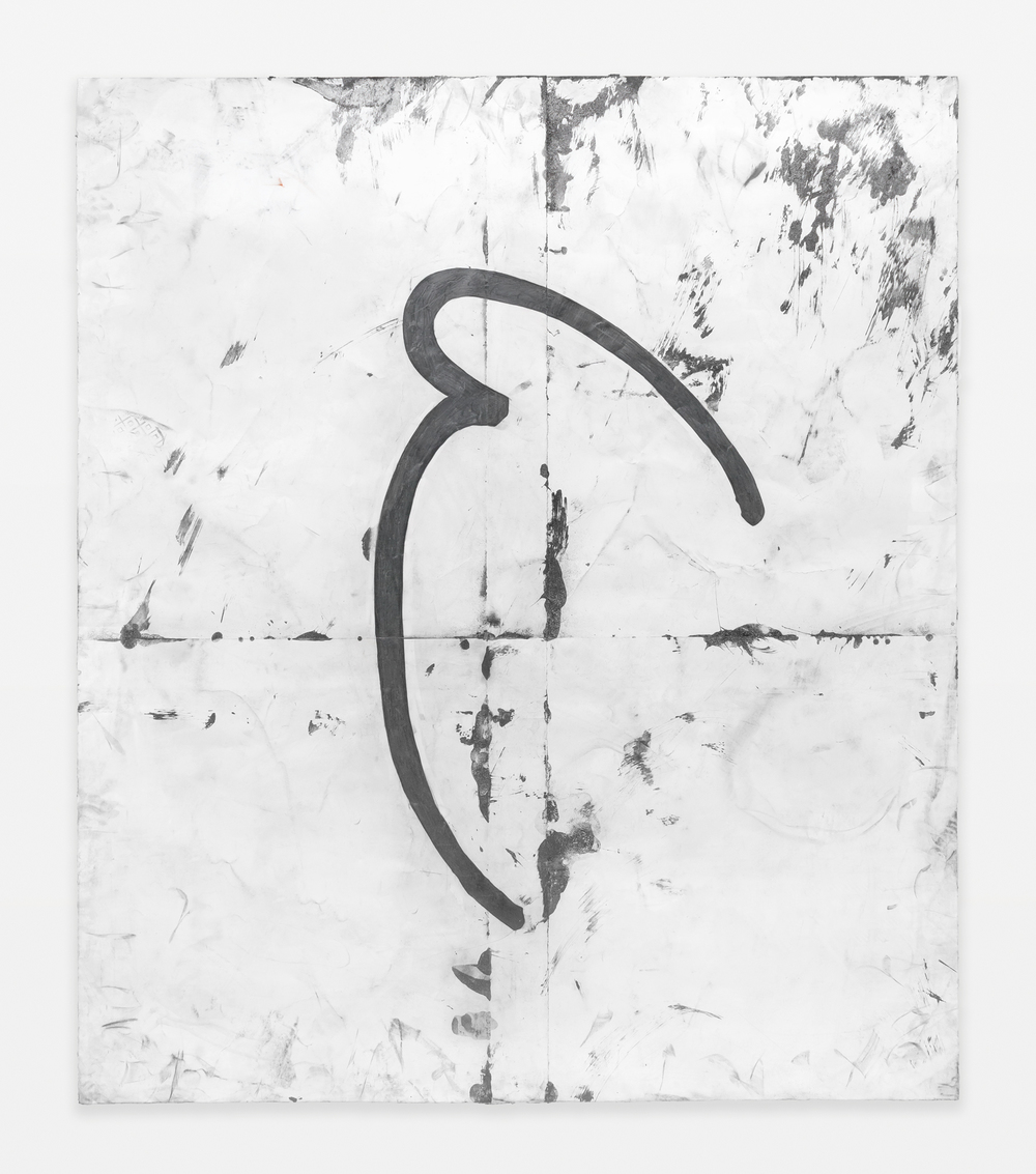 "Tony Lewis Pall 2015 Pencil, graphite powder, and tape on paper 83 3/4"" x 71 1/2"" TL292"