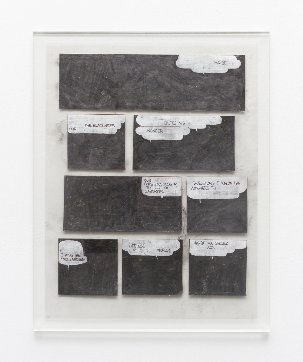 Tony Lewis  Maybe  2015 Pencil, graphite powder, and correction fluid on paper and transparency 11h x 8 ½w in TL291