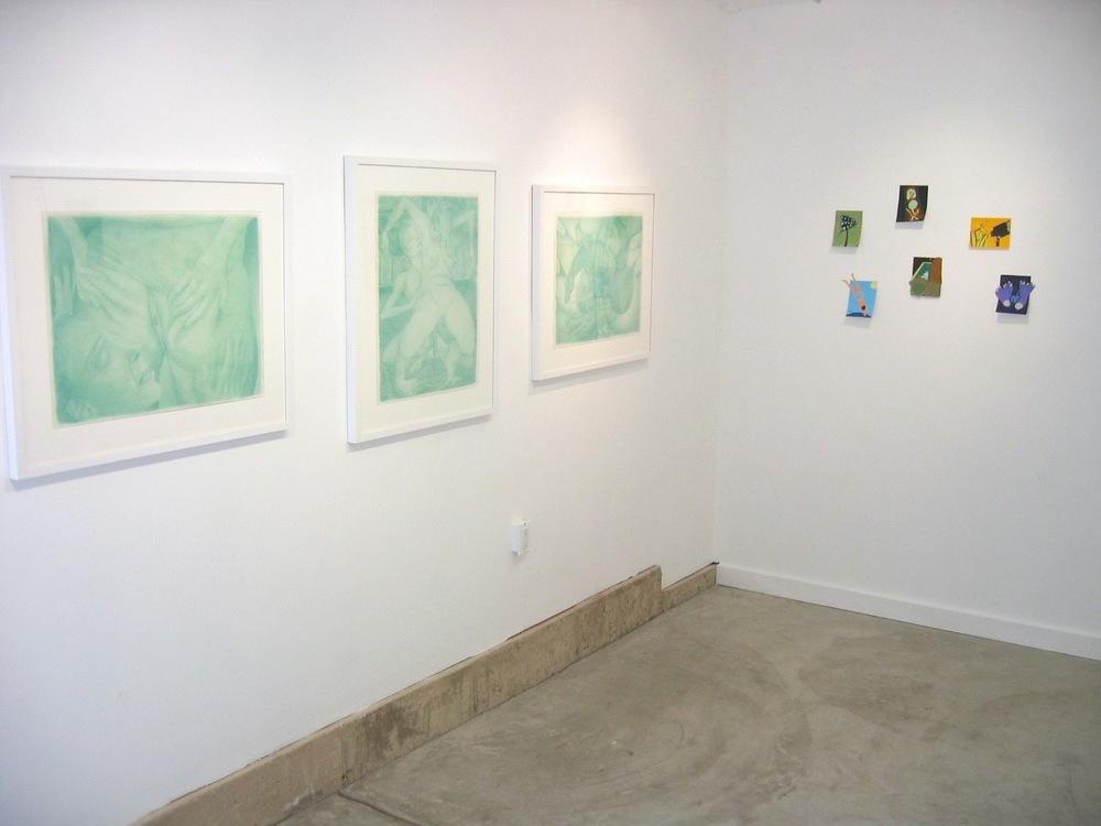 Gerald Davis, Charles Irvin, Jennifer Rochlin 2005 Shane Campbell Gallery, Oak Park Installation view