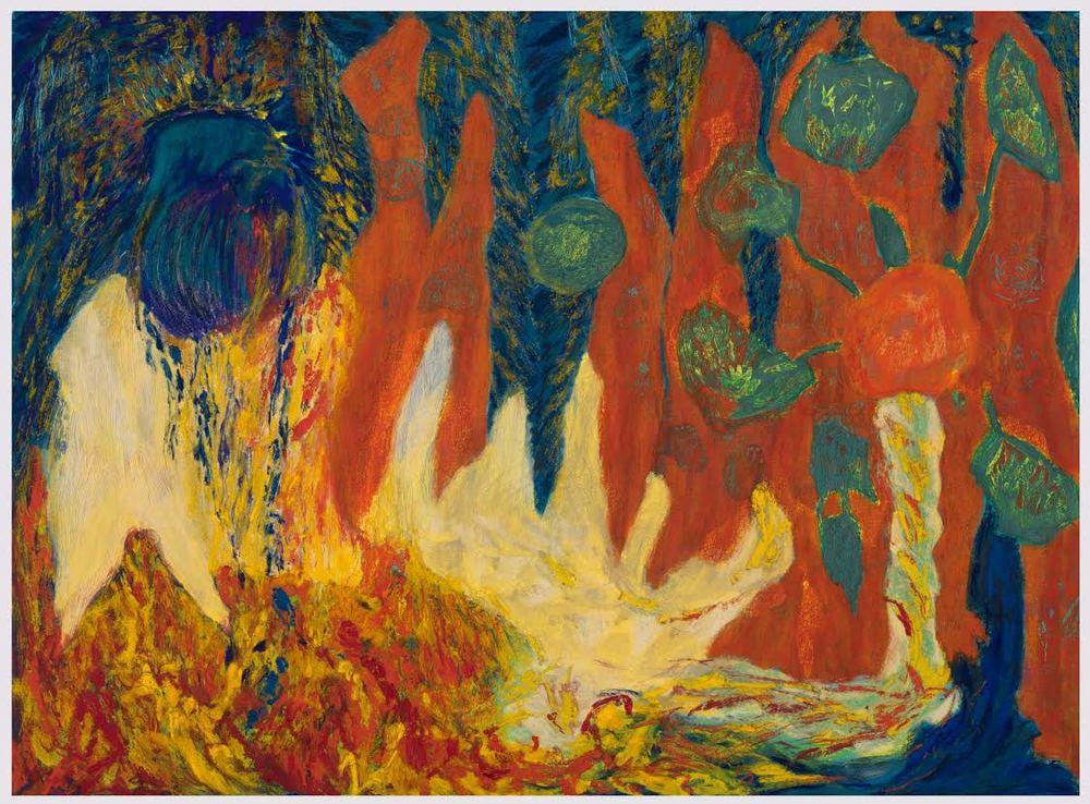 Mimi Lauter  Prelude  2015 Soft pastel, oil pastel on paper 71h x 96 ¼w in (artwork); 75 ⅝h x 100 ⅞w x 3d in (framed) MLaut033