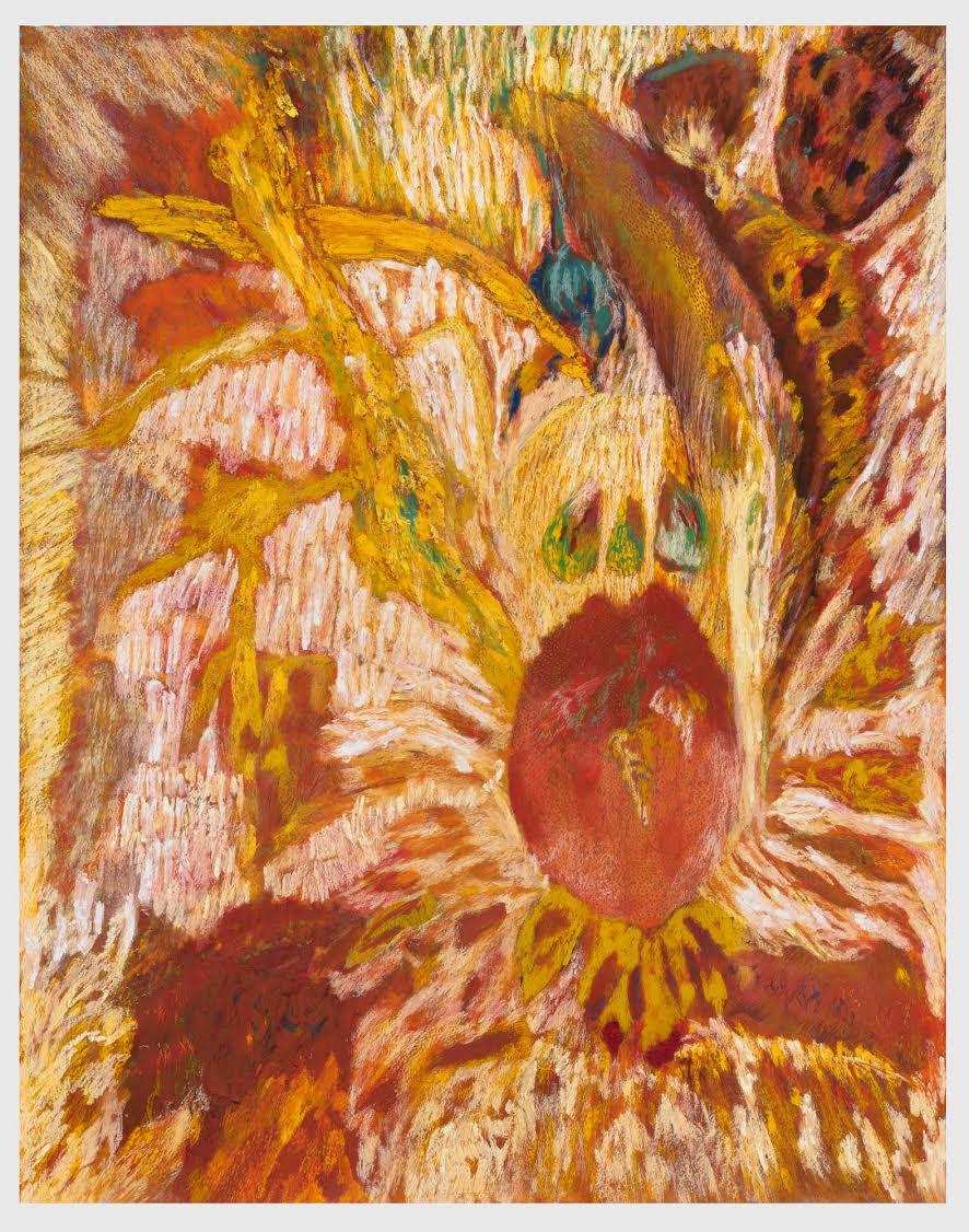 Mimi Lauter  The Conductor  2015 Soft pastel, oil pastel on paper 92 ¾h x 72 ¼w in (artwork); 97 ⅜h x 76 ⅞w x 3d in (framed) MLaut035