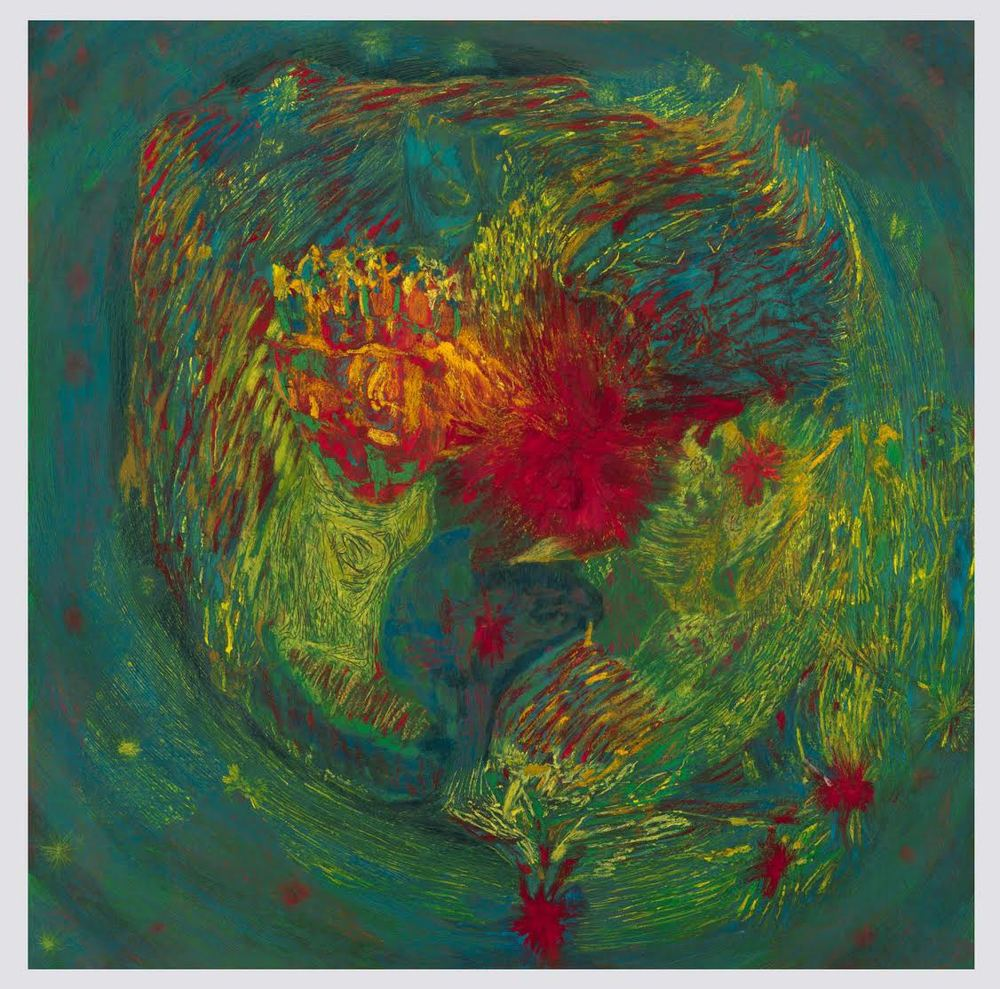 Mimi Lauter Map of the World 2015 Soft pastel, oil pastel on paper 72 1/2 x 72 1/2 in (artwork); 77 1/8 x 77 1/8 x 3 in (framed) MLaut037
