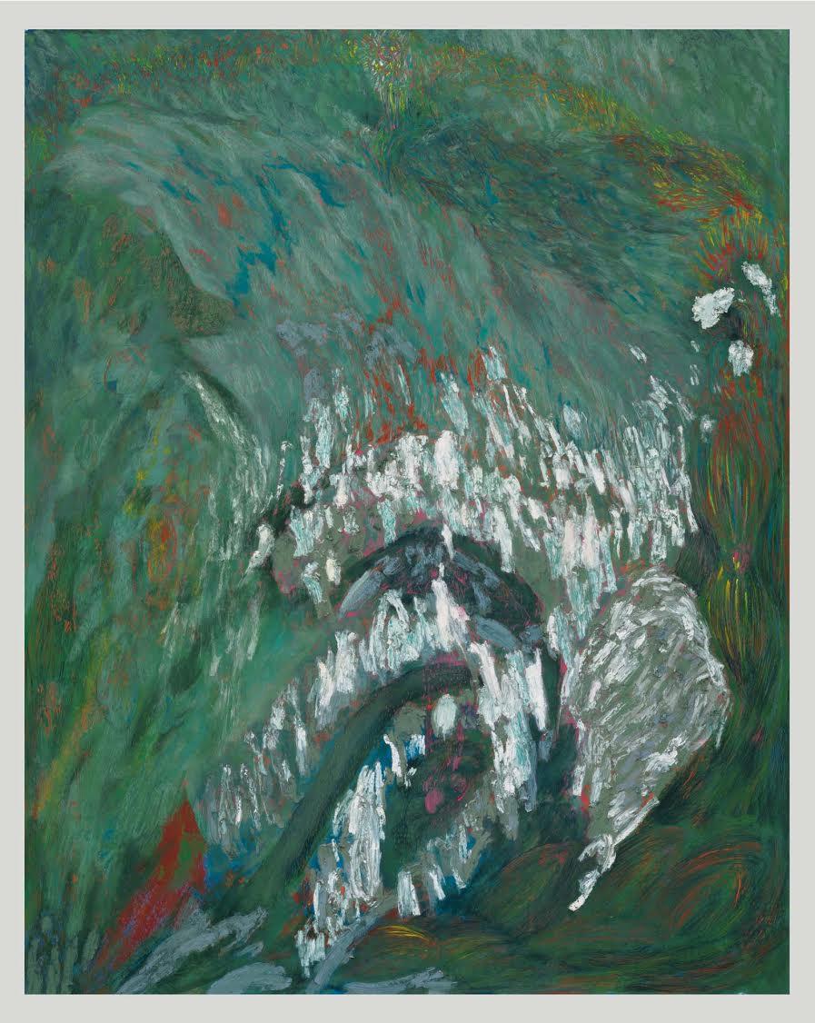 Mimi Lauter  The Goose  2015 Soft pastel, oil pastel on paper 83 ⅜h x 65w in (artwork); 88h x 69 ⅝w x 3d in (framed) MLaut044