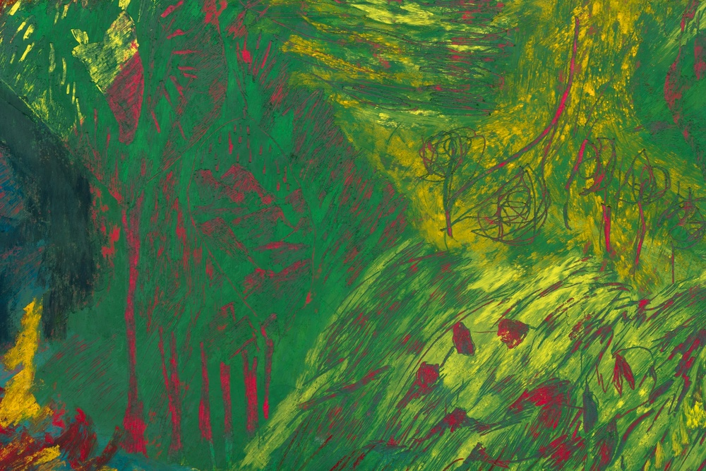 Mimi Lauter  Map of the World  (Detail) 2015 Soft pastel, oil pastel on paper 72 ½h x 72 ½w in (artwork); 77 ⅛h x 77 ⅛w x 3d in (framed) MLaut037