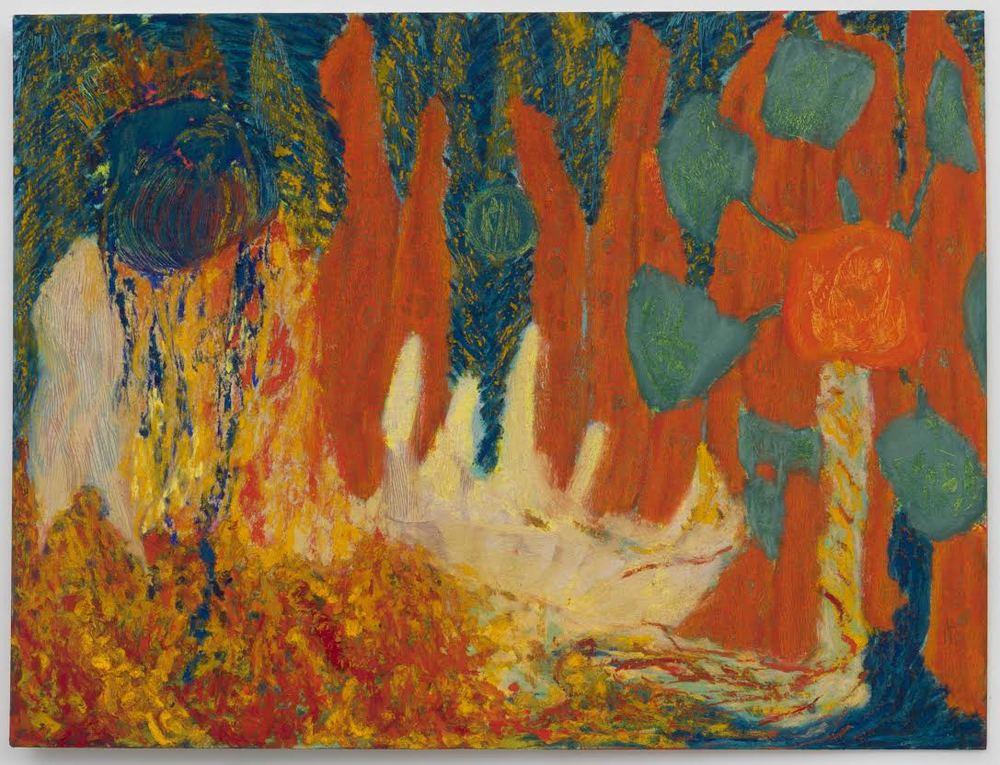 Mimi Lauter  Prelude (Miniature)  2015 Soft pastel, oil pastel on paper 12 ¼h x 16 ¼w in (artwork); 16 ⅜h x 20 ⅜w x 1 ¾d in (framed) MLaut032