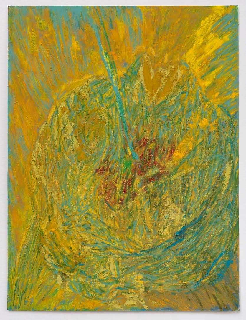Mimi Lauter  Gordian Knot  2015 Soft pastel, oil pastel on paper 16 ¼h x 12 ¼w in (artwork); 20 ½h x 16 ⅜w x 1 ¾d in (framed) MLaut034