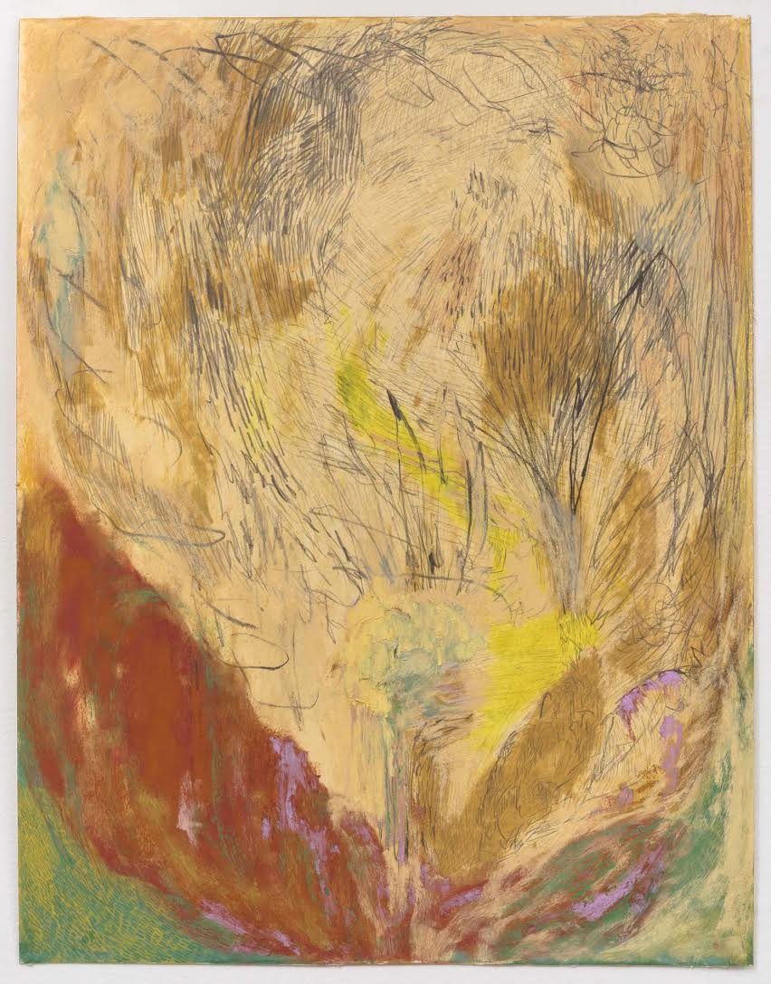 Mimi Lauter  A Lone Performer (Miniature)  2015 Soft pastel, oil pastel on paper 18 ¼h x 14 ⅛w in (artwork); 22 ⅛h x 18 ⅜w x 1 ¾d in (framed) MLaut042