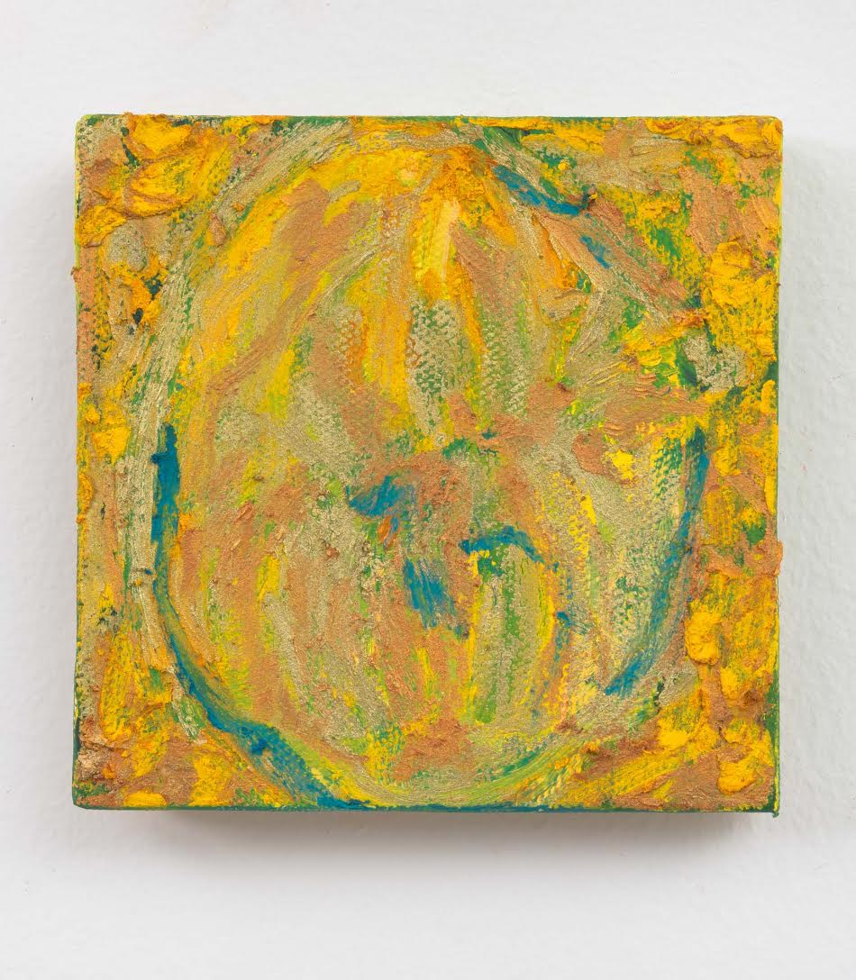 Mimi Lauter  Untitled  2015 Oil paint and oil pastel on canvas 4h x 4w in (artwork); 7 ⅛h x 7 ⅛w x 1 ¾d (framed) MLaut045