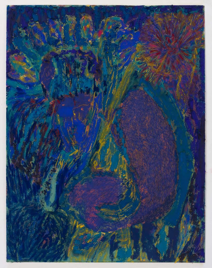 Mimi Lauter  Untitled  2015 Soft pastel, oil pastel on paper 18 ½h x 14 ½w in (artwork); 22 ½h x 18 ⅜w x 1 ¾d (framed) MLaut046