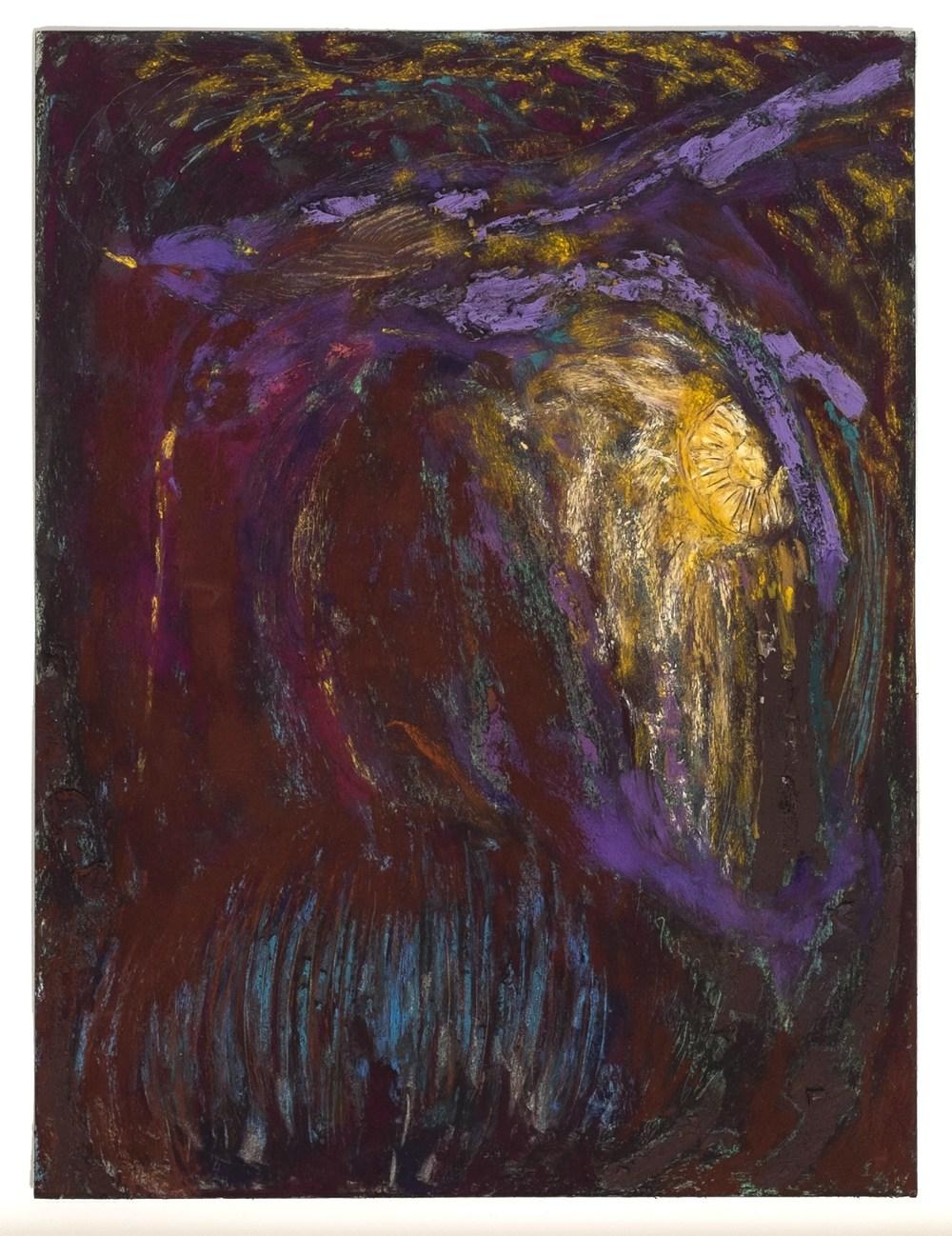 Mimi Lauter  Lovebirds (Miniature)  2014 Soft pastel, oil pastel on paper 15 ½h x 12w in (artwork); 20h x 16w in (framed) MLaut047