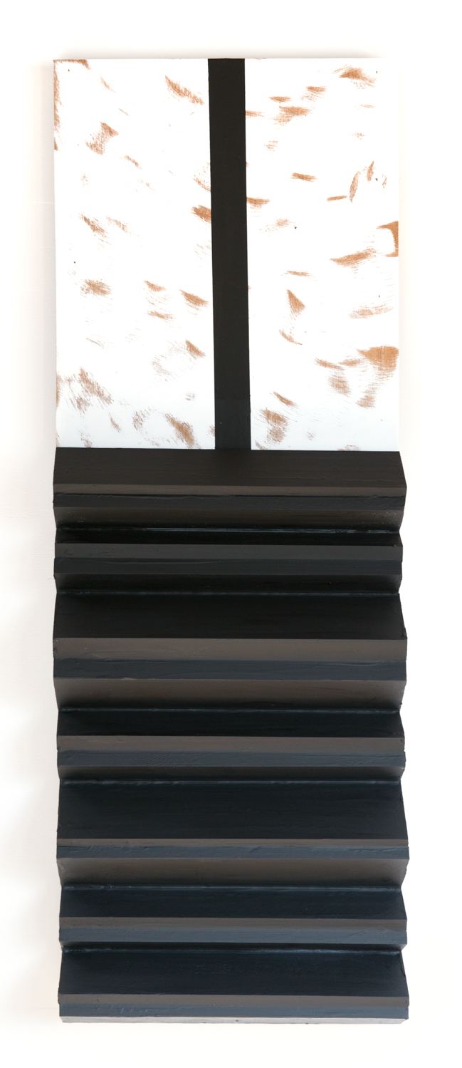 Kishio Suga Folding Body 2006 Wood, water-based paint 22 ½ x 16 ⅜ x 2 ⅛ in KS011
