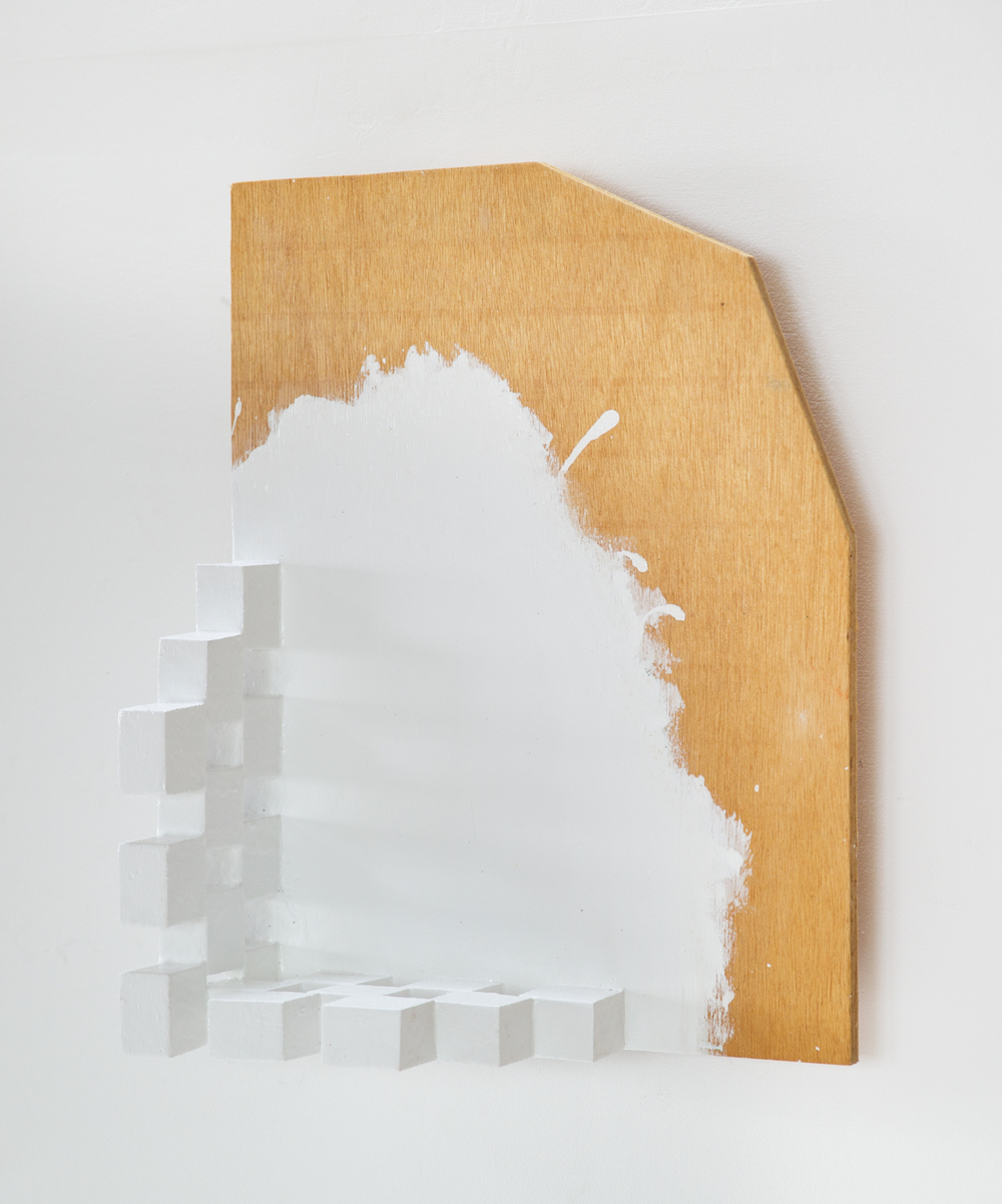Kishio Suga Edge of Scenery — M (Aligned with Corner) 1992 Wood and paint 19 ⅝ x 15 ¾ x 5 ⅛ in KS013