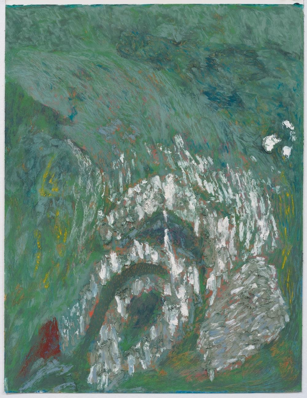 Mimi Lauter  The Goose (Miniature)  2015 Soft pastel, oil pastel on paper 18 ½h x 14 ⅛w in (artwork); 22 ½h x 18 ½w x 1 ¾d in (framed) MLaut017