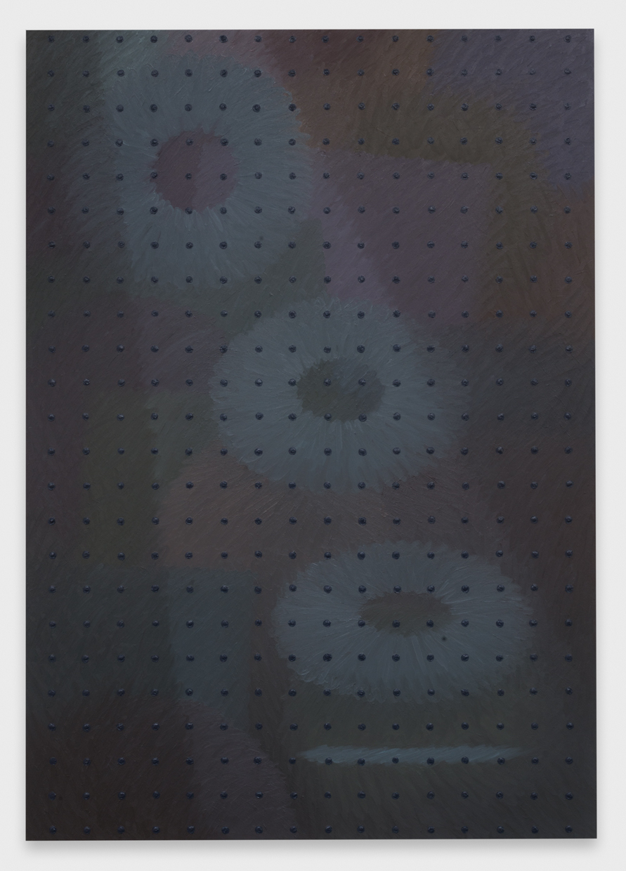 Alex Olson  Eclipse  2015 Oil and modeling paste on canvas 71h x 50w in AO177