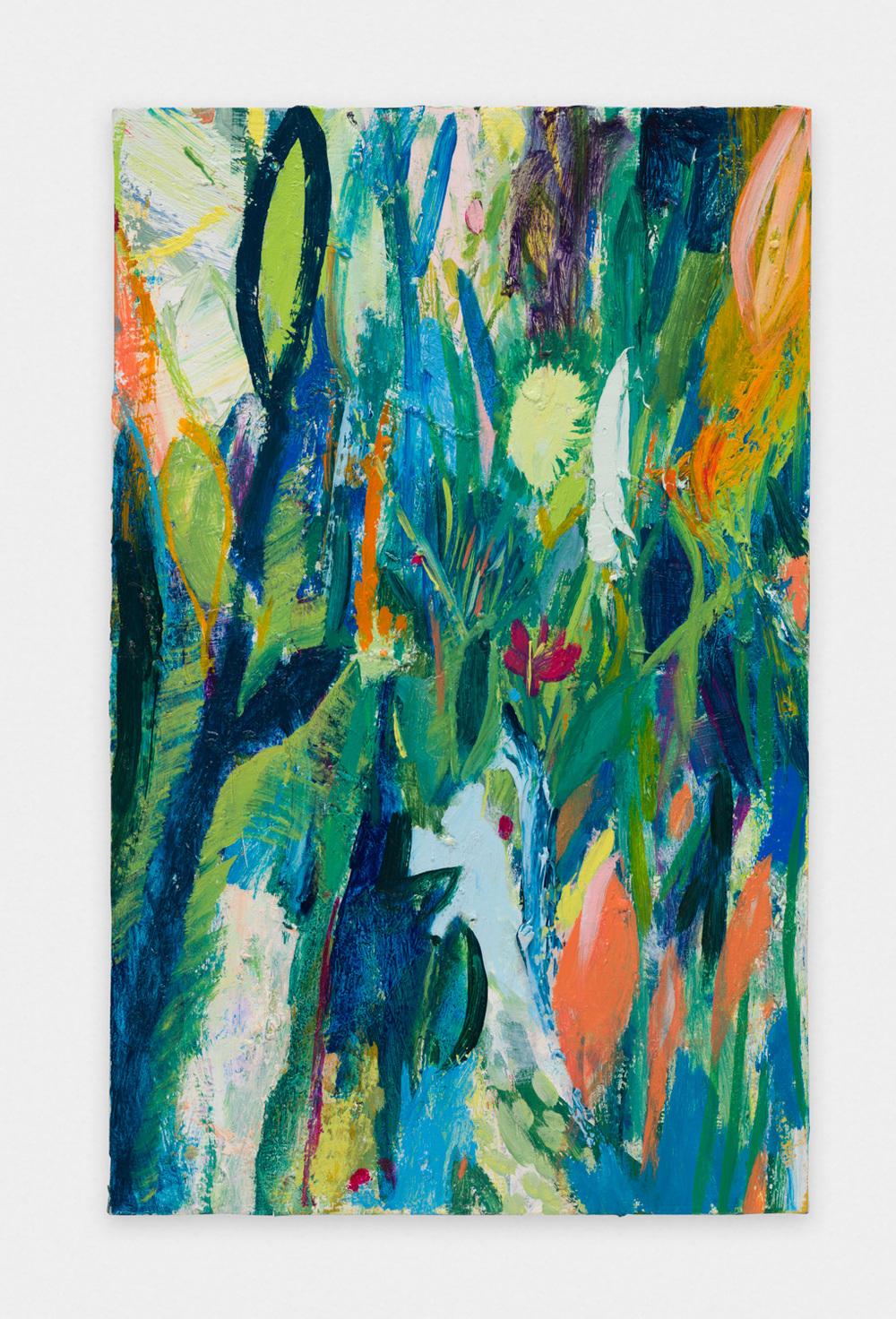 Miki Mochizuka  PF&YL  2015-2016 Oil on canvas 20.87h x 13.11w in (53h x 33.3w cm) MikiM010