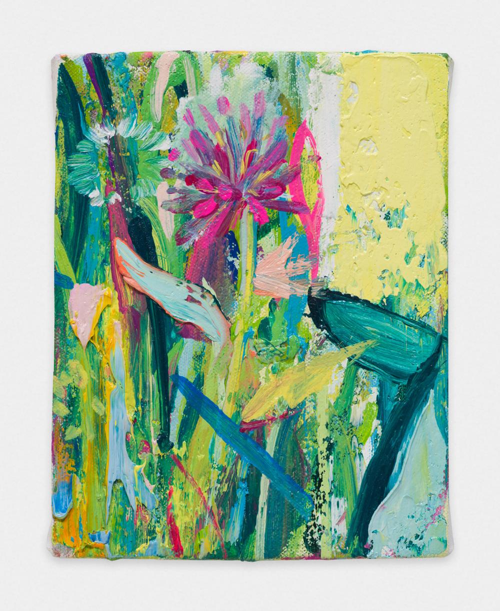 Miki Mochizuka  Fireworks  2015 - 2016 Oil on canvas 7.09h x 5.51w in (18h x 14w cm) MikiM012