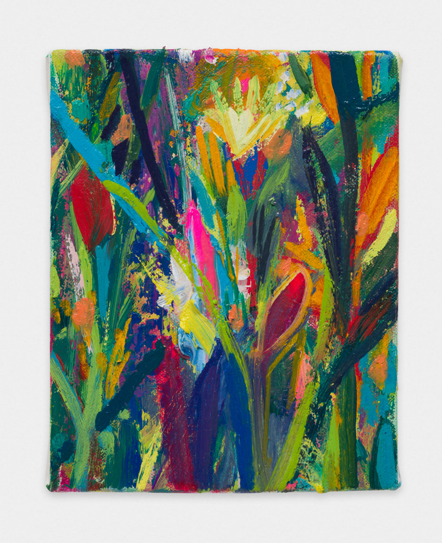 Miki Mochizuka  Pink  2015 - 2016 Oil on canvas 7.09h x 5.51w in (18h x 14w cm) MikiM016