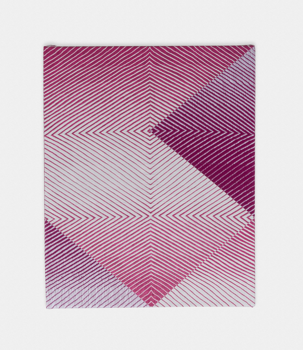 Samantha Bittman Untitled 2016 Acrylic on hand-woven textile 30 x 24 in (76.2h x 60.96w cm) SBitt001