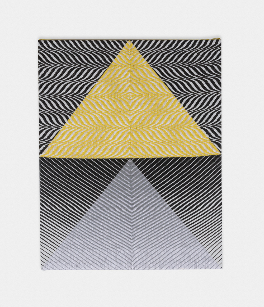 Samantha Bittman Untitled 2016 Acrylic on hand-woven textile 30 x 24 in (76.2h x 60.96w cm) SBitt003