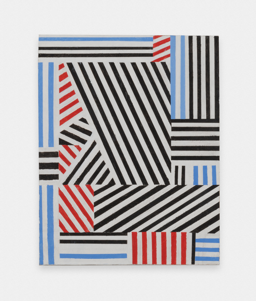 Thomas Kapsalis  Stripes  2014 Acrylic on canvas board 19h x 15w in TK001