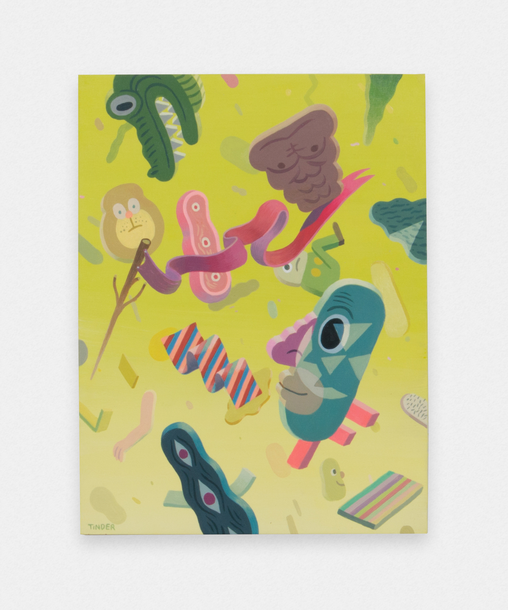 Jeremy Tinder  Phenomenostalgia  2016 Acrylic on panel 12h x 9w in JT001