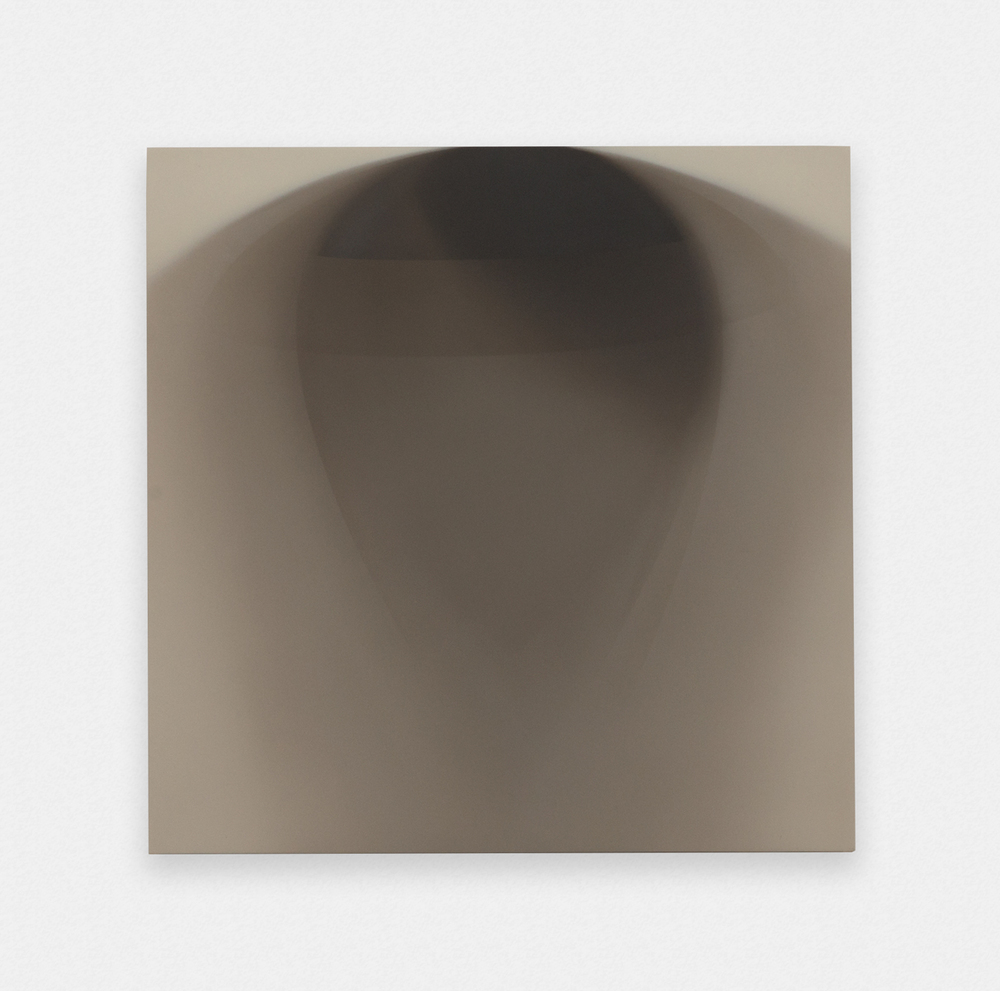 Matthew Metzger The Shadow of The Record Single Side A 2015 Oil on MRMDF 11.75 x 11.75 in (29.85h x 29.85w cm) MMet002