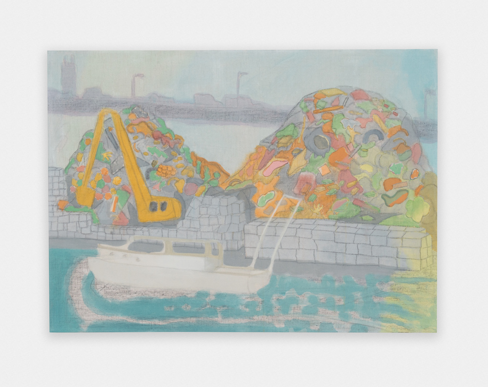 Tyson Reeder Gowanus Canal 2016 Acrylic and graphite on linen 44 x 32 in (111.76h x 81.28w cm) TR004