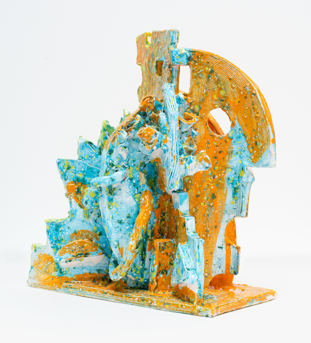 William J. O'Brien Untitled 2015 Glazed ceramic 22 x 18 x 12 in (55.88h x 45.72w x 30.48d cm) WOB1040