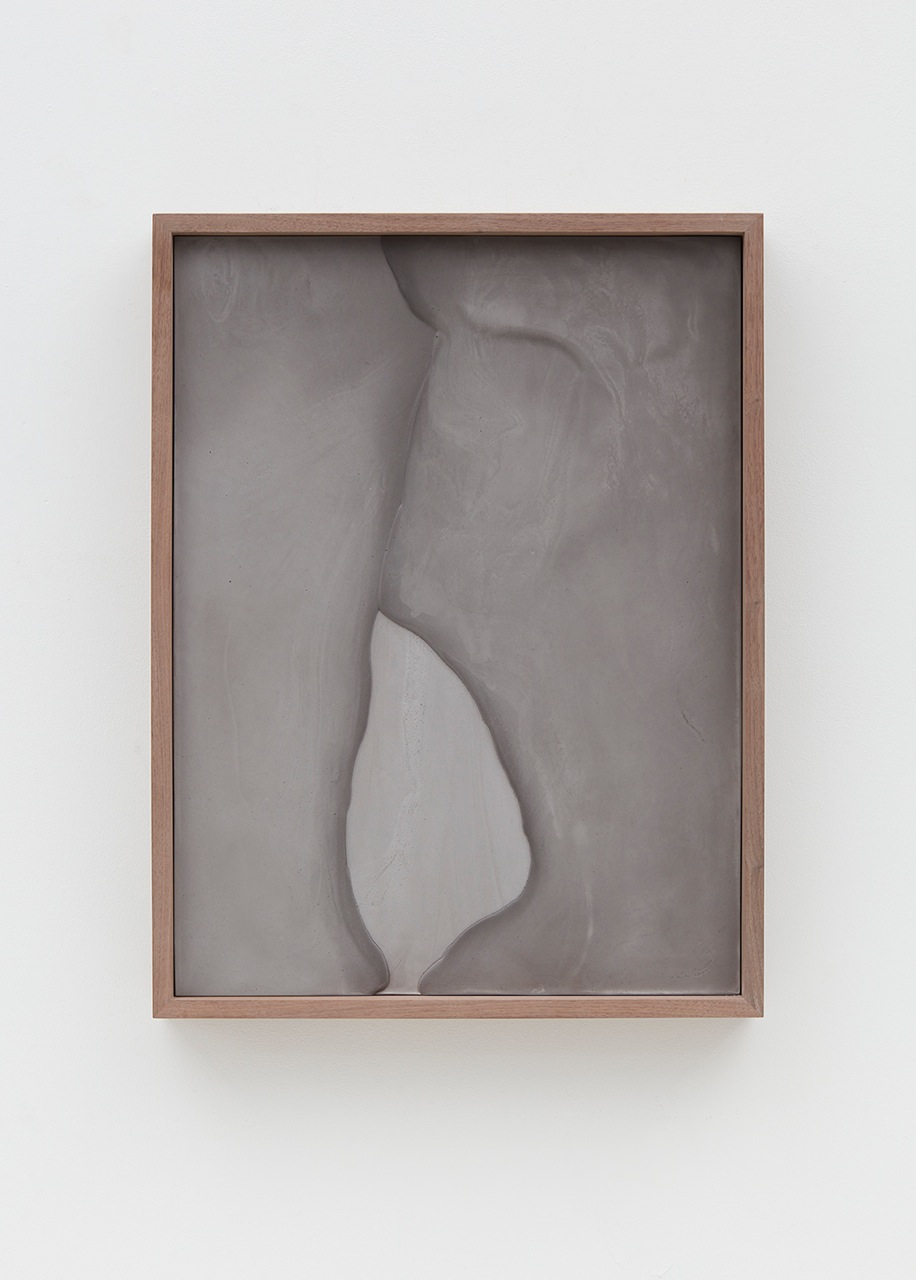 Anthony Pearson  Untitled (Plaster Positive)  2016 Pigmented hydrocal in walnut frame 28h x 21 ½w x 3 ¼d in AP428