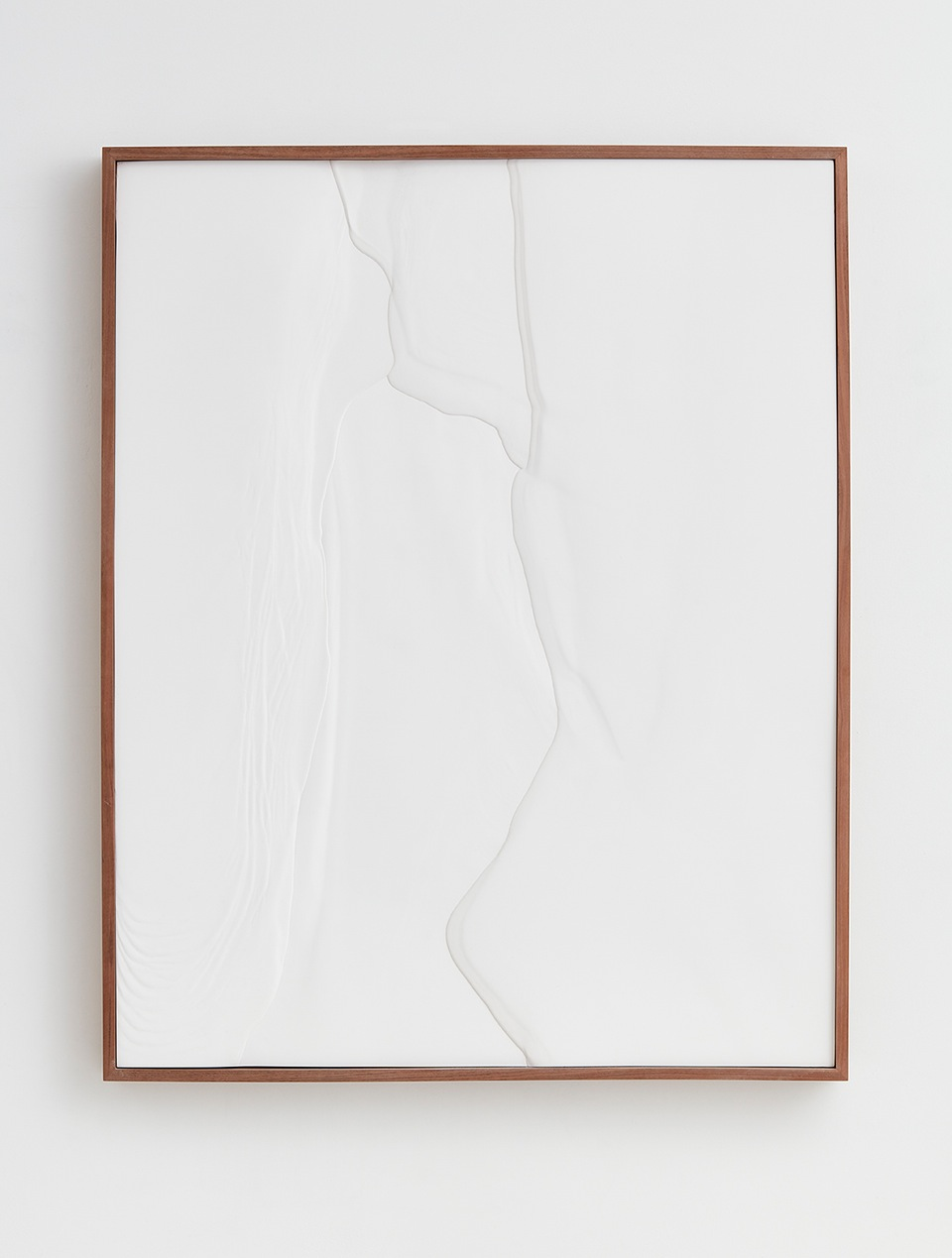 Anthony Pearson  Untitled (Plaster Positive)  2016 Hydrocal in walnut frame 61h x 48 ¾w x 4d in AP413