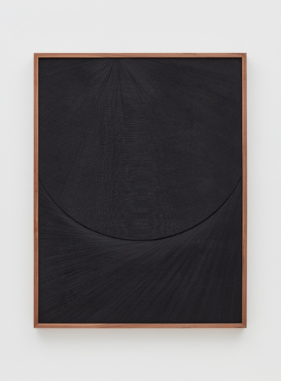 Anthony Pearson  Untitled (Etched Plaster)  2016 Medium coated pigmented hydrocal in walnut frame 49h x 38w x 2 ½d in AP411