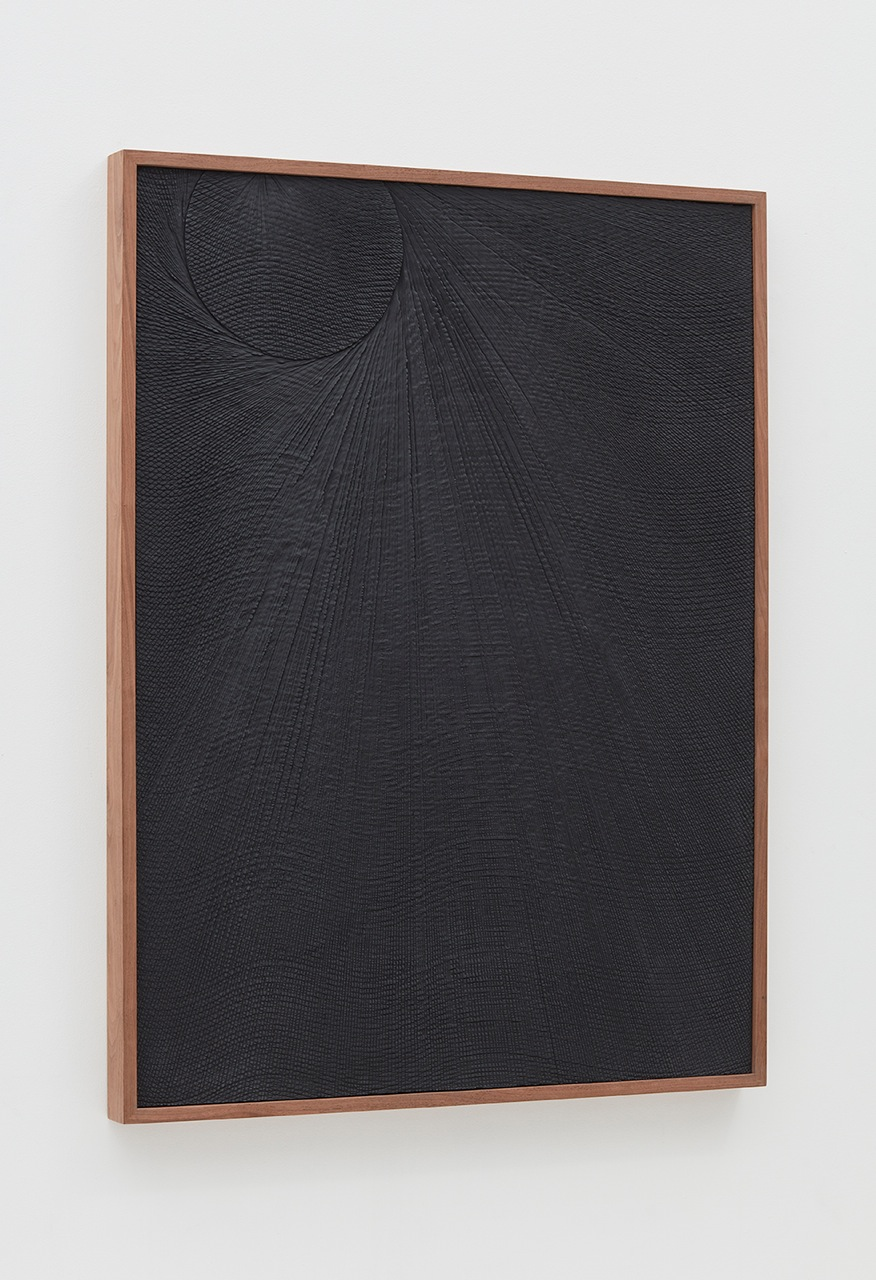 Anthony Pearson Untitled (Etched Plaster), Alternate view 2016 Pigmented hydrocal in walnut frame 48.75 x 37 x 2.5 in (123.83h x 93.98w x 6.35d cm) AP415